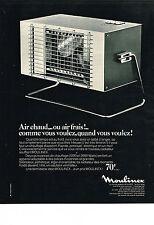 PUBLICITE  1968   MOULINEX   radiateur soufflant