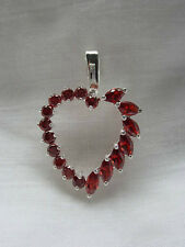 Red Ruby Heart Pendant in Sterling Silver BRAND NEW STOCK!!