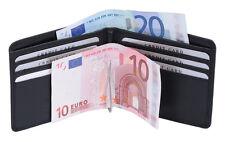 Money Clip Portemonnaie LEAS in Echt-Leder ohne Kleingeldfach, schwarz