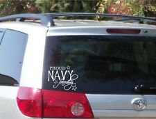 Proud Navy Family Decal Bumper Sticker Car Window