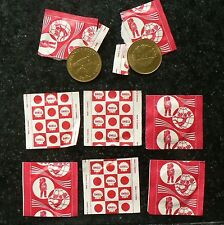 6x old MINT coins SPACE ITEMS  issued by Shell Gasoline 1972  (> 40 yrs old) <A>
