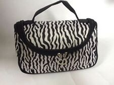 Zebra Stripped Small Cosmetic Bag Black and White