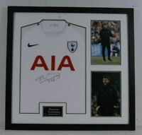Mauricio Pochettino Signed & Framed Shirt SPURS Tottenham Hotspur AFTAL COA (B)
