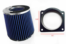 Blue Air Intake Filter + MAF Sensor Adapter For 96-01 Ford Explorer 4.0L V6