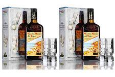 2 Bottiglie Vecchio AMARO DEL CAPO Caffo 70 CL + 4 Bicchieri Originali TOT 2 BOX