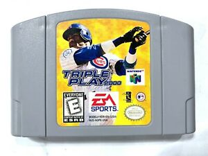 Triple Play 2000 NINTENDO 64 N64 Game Tested + Working & Authentic