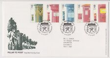 BISHOPS CAUNDLE PMK GB ROYAL MAIL FDC FIRST DAY COVER 2002 POST BOXES STAMP SET