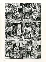 JULIE DOUCET Dirty Plotte #5 p17 MONKEY & THE LIVING DEAD Original COMIC ART