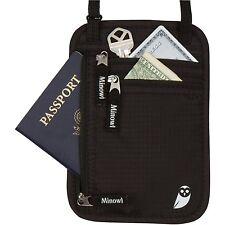 *CLEARANCE* Minowl Travel Wallet RFID Blocking Passport Holder Neck Pouch Tra...