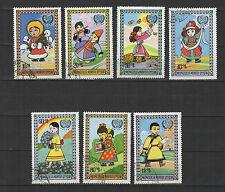 U.N.I.C.E.F. journée de l'enfance  Mongolie 1977 série de 7 timbres / T1734