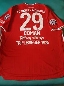 FC Bayern Trikot Home Authentic 20/21 XXL Nr 29 Coman (Sonderflock)