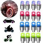 4/ 8 Pcs LED Wheel Tyre Tire Air Valve Caps Neon Light for Bike Motorcycle Car