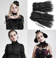 Punk Rave Gothic Armband Halsschmuck schwarz tütü lace kopfschmuck Halsband