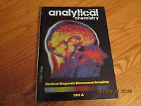 VTG APRIL 1985 ANALYTICAL CHEMISTRY MAGAZINE VOL 57 NO 4 NUCLEAR MRI 595 A