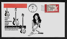 1964 Rickenbacker Guitar & Sexy Girl Ad Featured on Collector's Envelope *A478