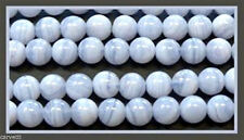 6mm Blue Lace Agate Smooth Round Beads (10) TEN BEADS