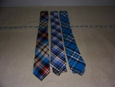 Lot Of 3 Skinny Tie Madness Ties - 100% Cotton - Used - Multi Colored