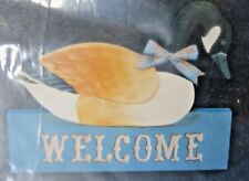 CANADA GOOSE  WELCOME SIGN UNPAINTED WOOD SURFACE & PATTERN A8073