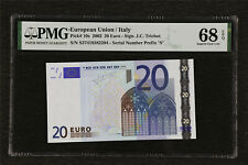 2002 European Union / Italy 20 Euro Pick#10s PMG 68 EPQ Superb Gem UNC