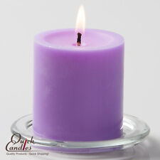 "Richland Pillar Candles Lavender 3"" x 3"" Set of 12, Home, Event & Wedding Decor"
