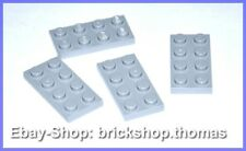Lego 4 x Plate (2 x 4) - 3020 Grey - Light Bluish Grey Plate - New / New