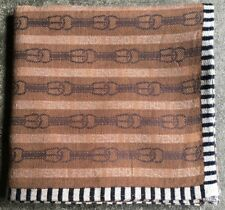 """HANDKERCHIEF ART VINTAGE CLASSIC ROPE RING BROWN MEN'S POCKET SQUARE SCARF~18"""""""