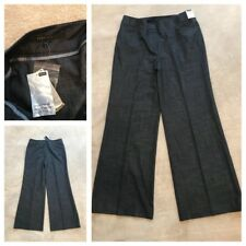 🆕 NEXT Ladies Loose Fit Work Office Trousers Size 14 R Blue