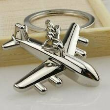 Key Chain Ring Keyring 1 pcs Fashion Metal Simulation Model Airplane Keychain