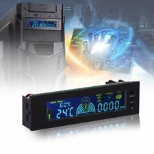 New Bay Front Fan Speed Controller LCD Panel PC CPU Temperature Sensor Computer