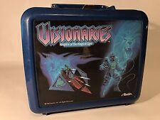 Vintage Aladdin Visionaries Lunch Box No Thermos Plastic Rare Blue Cartoon Toys