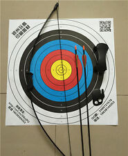 "20IBS Kid Black Archery Hunting Bow Sets 20"" W/Protectors&Safe Practice Arrow"