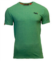 Superdry Mens New Orange Label Crew Neck Short Sleeve T Shirt Green Grit Feeder