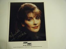 Marina Sirtis Star Tek Next Generation Deanna Troi Autographed Color 8 X 10 Pic