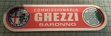Alfa romeo vintage dealer window sticker can be customised internal sticking
