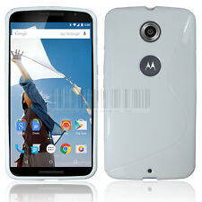 S Line Ultra Slim Flexible GEL TPU Soft Case Cover For Google Motorola Nexus 6