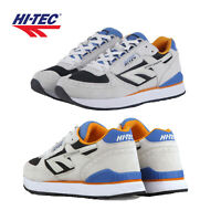 Hi-Tec Unisex Silver Shadow Retro Trainers Suede Low Top Lace Up Sneakers Shoes