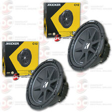 "2 x BRAND NEW KICKER COMP 12"" 4-OHM CAR AUDIO SUB WOOFERS C12 SUBWOOFERS"