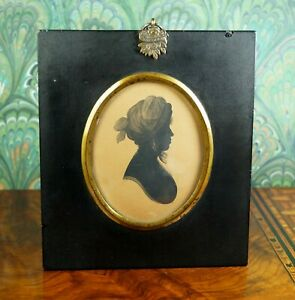 Regency Silhouette Lady Mrs Micklethwaite by William Bullock Museum Liverpool