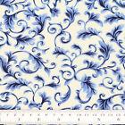 Cotton Fabric FQ Flower Leaf Damask Vine Vintage Retro Floral Dress Quilt VK119