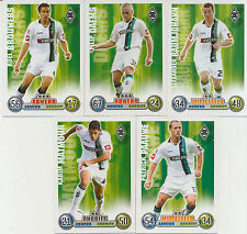Match Attax 2008/09 08/09 Borussia M´gladbach  5 Spielerkarten - Filip Daems u.a