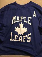 MENS Large L Vtg NHL Toronto Maple Leafs Mangini Jersey CCM