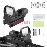 1x22x33 5MOA Optic Red/Green Dot Reflex Scope Sight 20mm Rail For Rifle Hunting