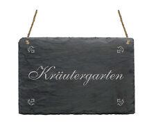 Schiefertafel « Kräutergarten » Schild Kräuter Garten Gärtnerei Gärtner Küche