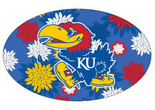 KANSAS FLORAL DESIGN DECAL-KANSAS JAYHAWKS STICKER-NEW FOR 2016!