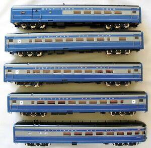 B&O Cincinnatian 5-Car Passenger Train by Key. Brass, Factory Paint.