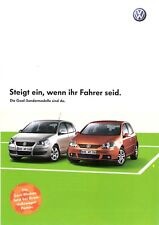 Prospekt / Brochure VW Goal-Sondermodelle 2006 Polo, Golf, Golf Plus, Touran