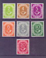 Bund 1951 - 7 Werte Posthorn aus MiNr. 123/130 postfr.** - Michel 100,00 € (328)