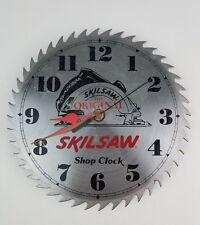 "Vintage Skil Saw Blade Shop Metal Wall Clock NOT Working 10"" blade needs work"