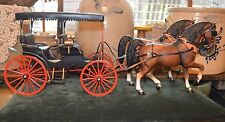 R.W. Wagoner Miniaturist Intricate Surrey Carriage Sculpture & Breyer Horses