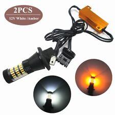 LED 92SMD Light Strip White Amber DRL Headlight Superbright Car Turn Signal Lamp